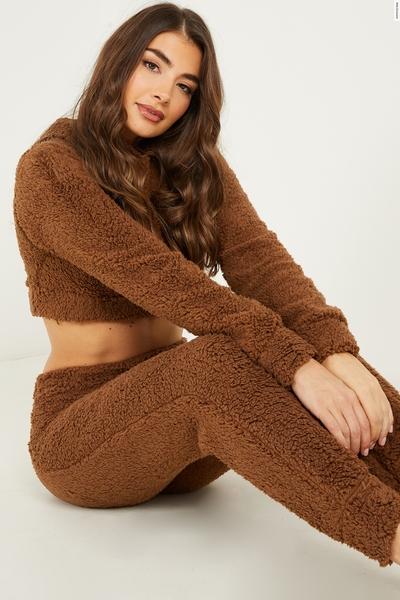 Camel Teddy Hoodie